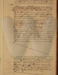 huwelijks-akte Slothouwer, Johanness en Wilhemina Hendrika van der Veen 26-4-1906 -1-
