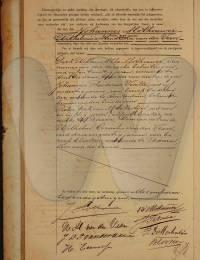 huwelijks-akte Slothouwer, Johanness en Wilhemina Hendrika van der Veen 26-4-1906 -2-