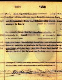 overlijdens-akte Veen, Wilhelmina Hendrika van der 30-8-1968